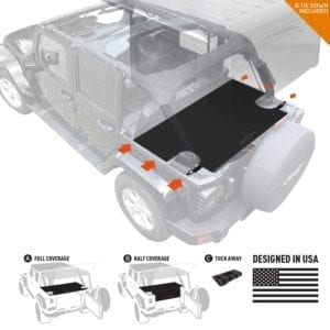 GPCA Cargo Cover LITE for Jeep Wrangler JKU