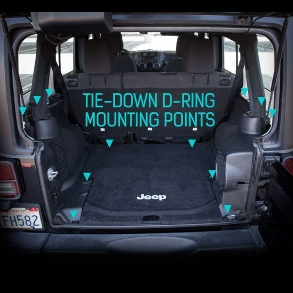 GPCA Jeep tie-down D-ring mounting points