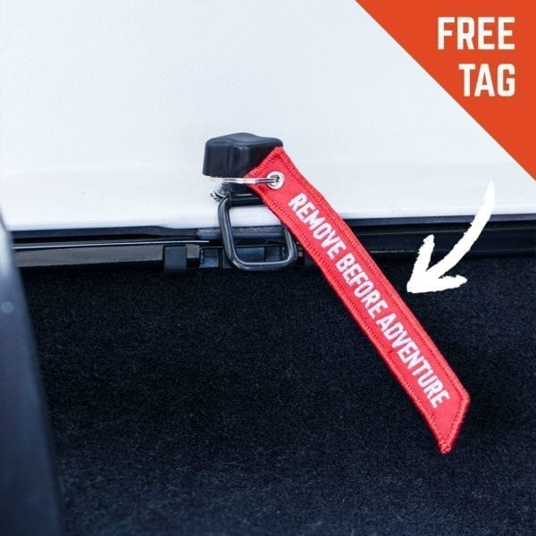 GP quick-release red tag remove before adventure