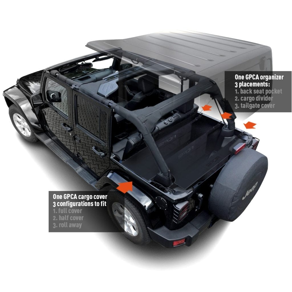Gpca Jeep Wrangler Trunk Cargo Freedom Pack Lite And Pro