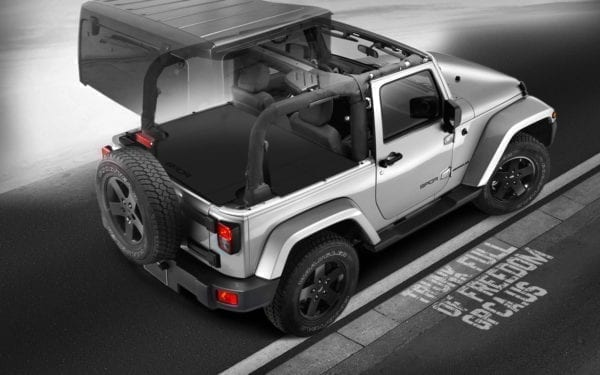 Jeep Wrangler JK 2DR cargo cover full coverage