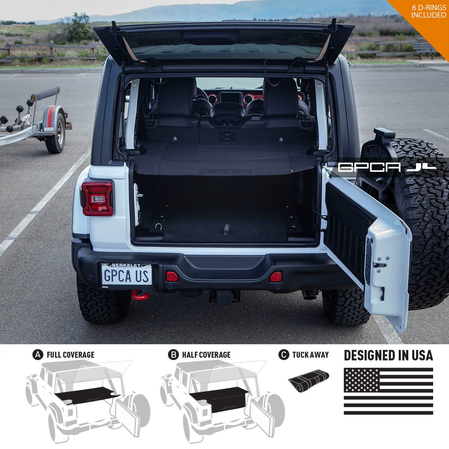 Gpca Jeep Wrangler Jl Unlimited Cargo Cover Gpca