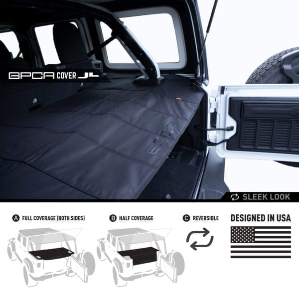 GPCA Jeep JL cargo cover PRO