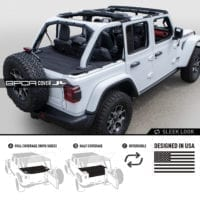 GPCA Jeep JL cargo cover PRO topless