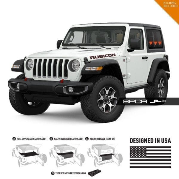 GPCA Jeep wrangler JL cargo cover 2DR hard top