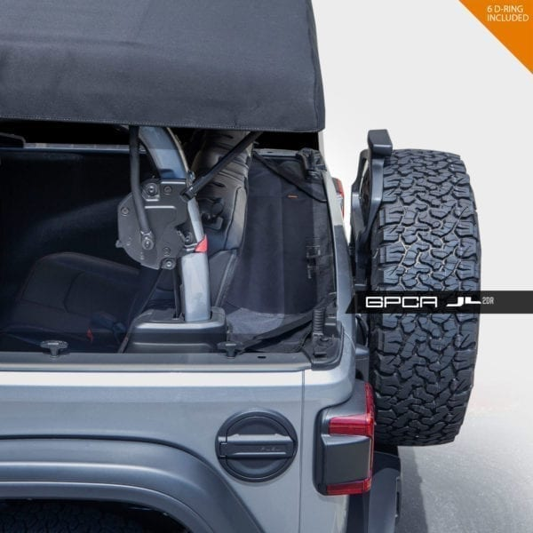 GPCA Jeep wrangler JL cargo cover 2DR back seat